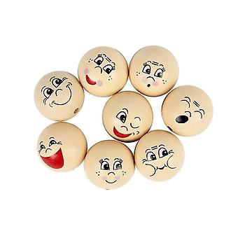 16 Assorted Wooden Heads for Crafts - 30mm | Wooden Shapes for Crafts