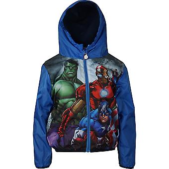 Boys Marvel Avengers RH1073 Lightweight Hooded Jacket with Bag Size 4-10 Years
