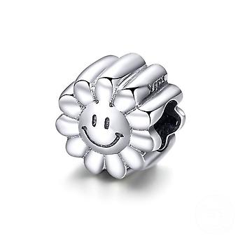 Sterling silver charm Sunny face