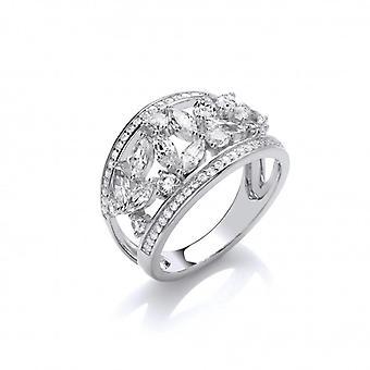Cavendish franska Silver och CZ: s Galore Ring