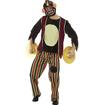 Deluxe Clapping Monkey Toy Costume, Multi-Coloured, with Top, Trousers, EVA Mask & Cymbals