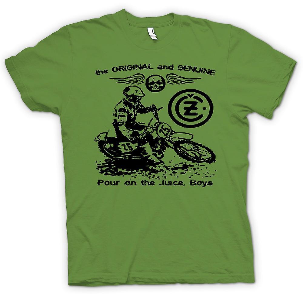 Mens T-shirt - Jawa CZ Juice - klassische Moto