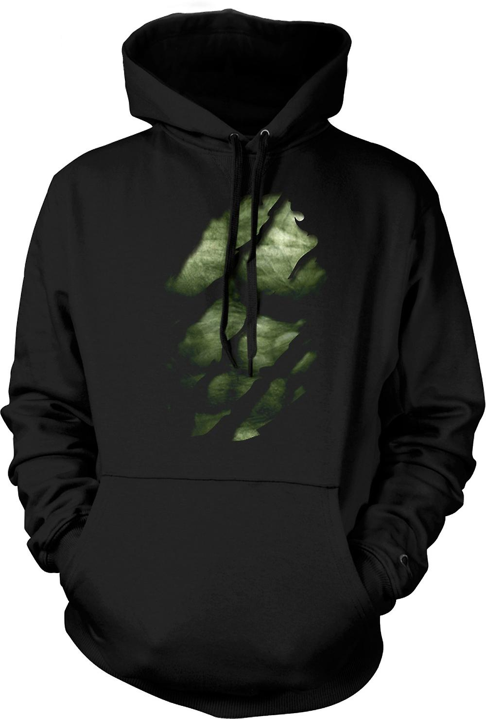 Kids Hoodie - The Hulk - Ripped Effect