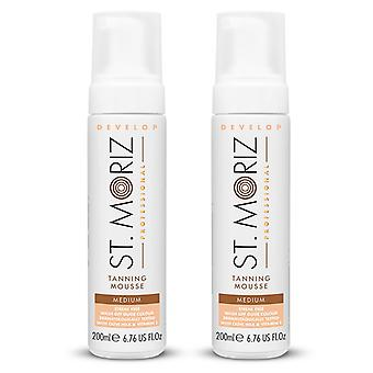 2-pack St Moriz Professional Medium Mousse 200ml