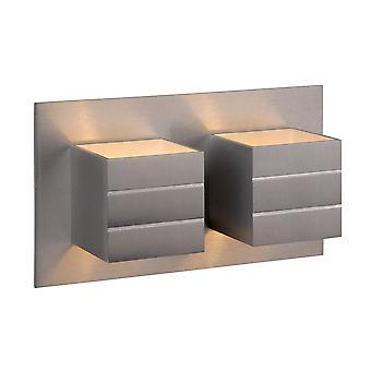 Lucide Bok moderno retangular alumínio cetim cromo luz de parede