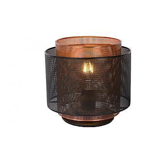 Lucide Orrin moderne sylinder metall svart bordlampe