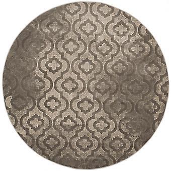 屋内敷物 - 太平洋エバー グリーン グレー 155 周りショート パイル平織りラグ リビング ルーム屋内カーペット グレー/155 cm - 内部のリビング ルームのための敷物