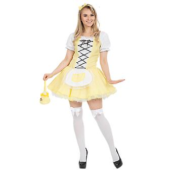 Costumes d'Orion Womens jaune Goldilocks Fairy Tale princesse Déguisements costume