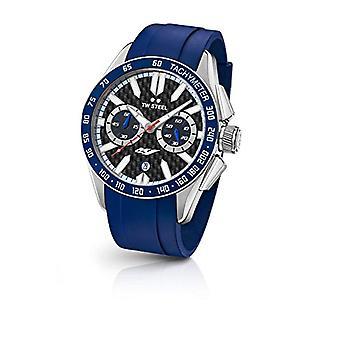 TW Steel Chronograph quartz men's Watch with rubber strap GS4