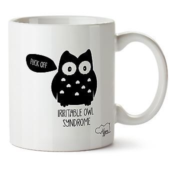 Hippowarehouse Irrités Chouette Syndrome 283,5Gram Mug Cup, Céramique, Blanc, One Size (10oz)