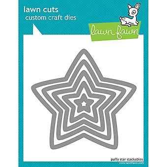 Lawn Cuts Custom Craft Stackables Dies-Puffy Star, .812