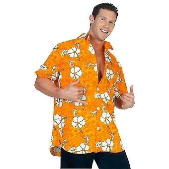 Hawaiian Shirt Orange Ad One S