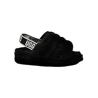 Ugg Slide Black Suede Sandals