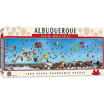 Albuquerque New Mexico Balloon Fiesta 1000 piece panoramic jigsaw puzzle 990mm x 330mm (mpc)