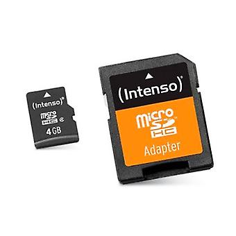 Micro SD with adapter INTENSO 3413450 4 GB class 10 memory card