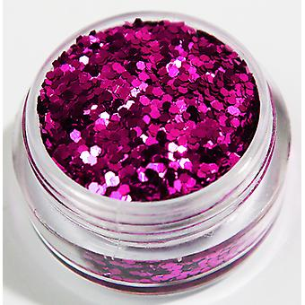 1st Hexagon glitter Pink