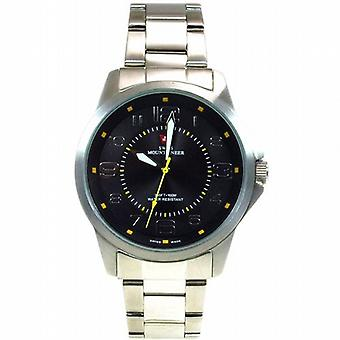 Swiss Mountaineer 100M Water Resistant Black Dial Men's Watch SMW002