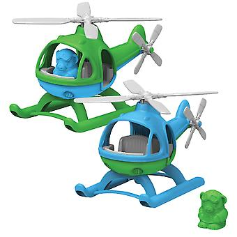 Green Toys Helicopter Flying Toy with Figure BPA Free 100% Recycled