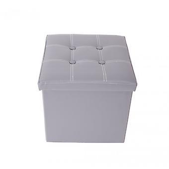 Rebecca meubles Puff cube conteneur Design gris tabouret mobilier maison moderne