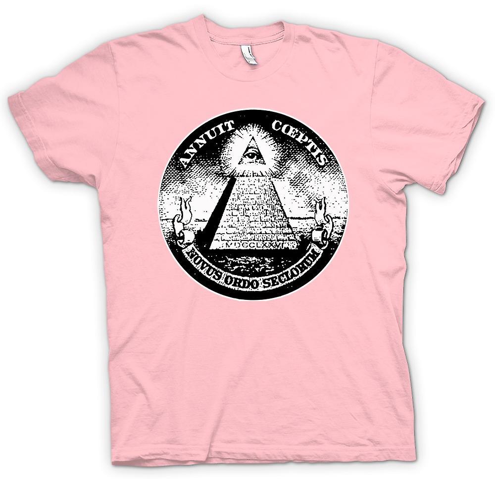 Herren T-Shirt - Illuminati - Verschwörung Dollar