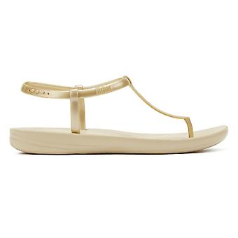 FitFlop iQushion Splash Pearlised Back-Strap Womens Gold Sandals