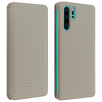 Huawei P30 Lite Case Cover Storage Cards Integral Protection - Brown