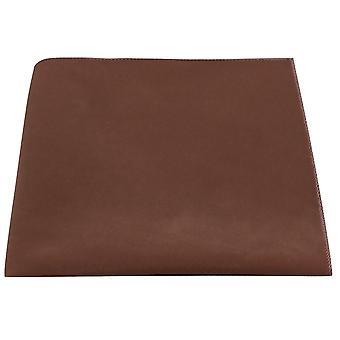 Luxury Gingerbread Brown Velvet Pocket Square