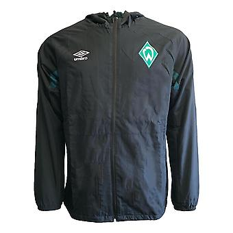 2019-2020 Werder Bremen Umbro Shower Jacket (Black)