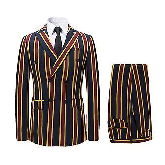 Allthemen Hommes-apos;s 3-Piece Suits Vertical Stripe Casual Blazer et Vest-Pantalon