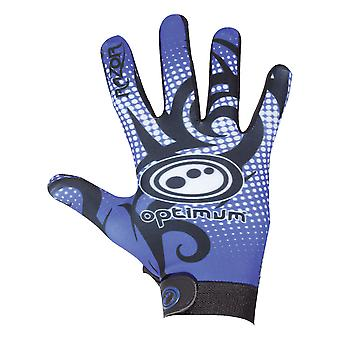 Optimum Velocity Razor Full Finger Thermal Rugby Glove Black/Blue