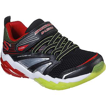 Skechers Boys Rapid Flash 2.0 Light Up Slip On Sporty Shoes