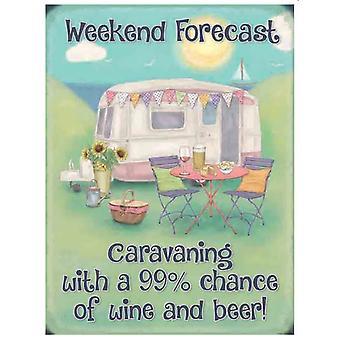 Caravan Weekend Forecast fridge magnet (og)