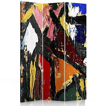 Room Divider, 3 Panels, Single-Sided, Canvas, Abstract Art