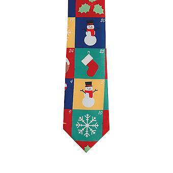Dobell Mens Multicoloured Advent Calendar Christmas Tie