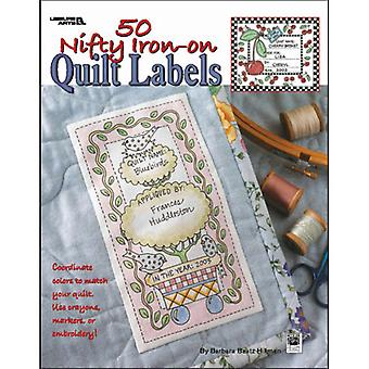 Leisure Arts 50 Nifty Iron On Quilt Labels La 3466