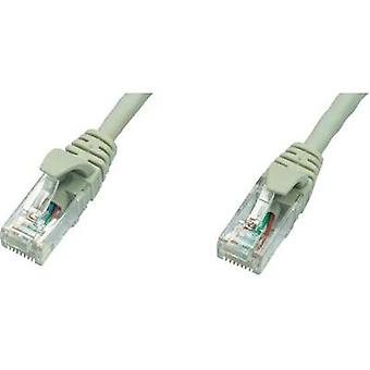 RJ49 Networks Cable CAT 5e U/UTP 3 m Grey Flame-retardant Telegärtner