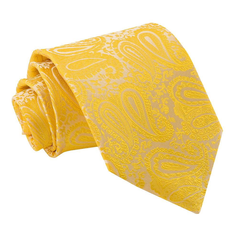 Gold Paisley Patterned Tie