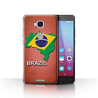 STUFF4 Case/Cover for Huawei Honor 5X/GR5/Brazil/Brazilian/Flag Nations