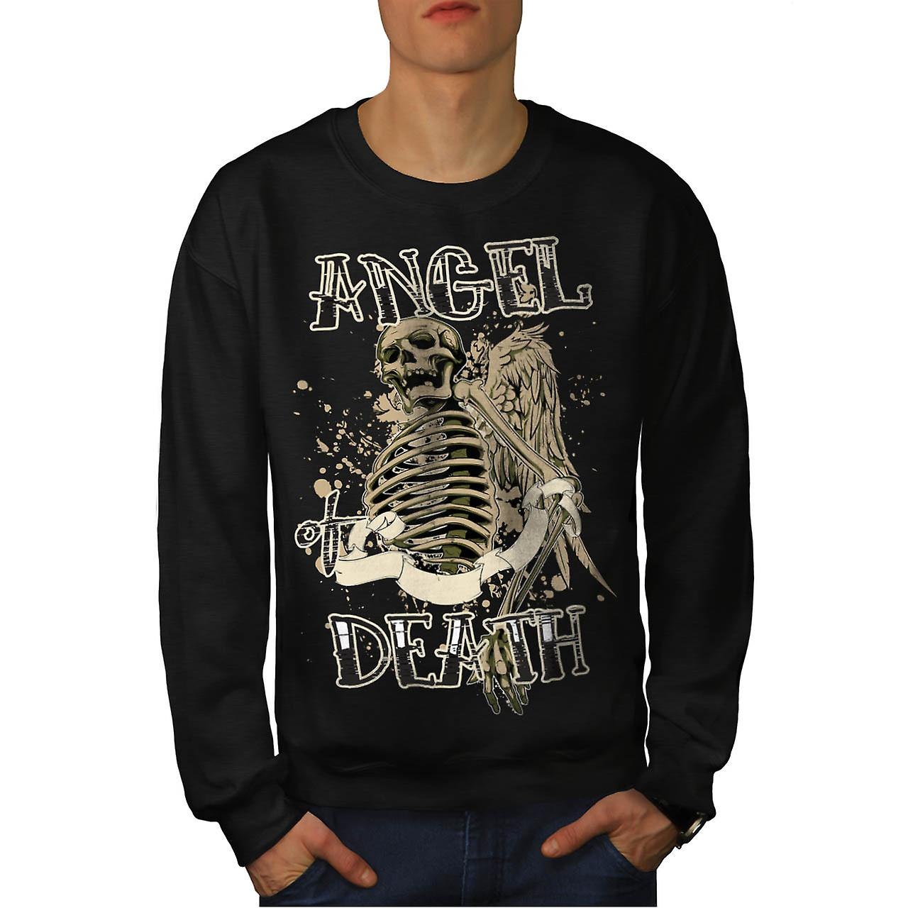 Angel Death Halo Wing Hell Gate Men Black Sweatshirt | Wellcoda
