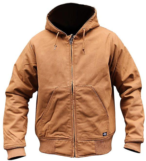 Dickies Bennett zip up jacket duck brown