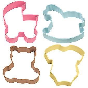 Metal Cookie Cutter Set 4/Pkg-Baby Theme W1067