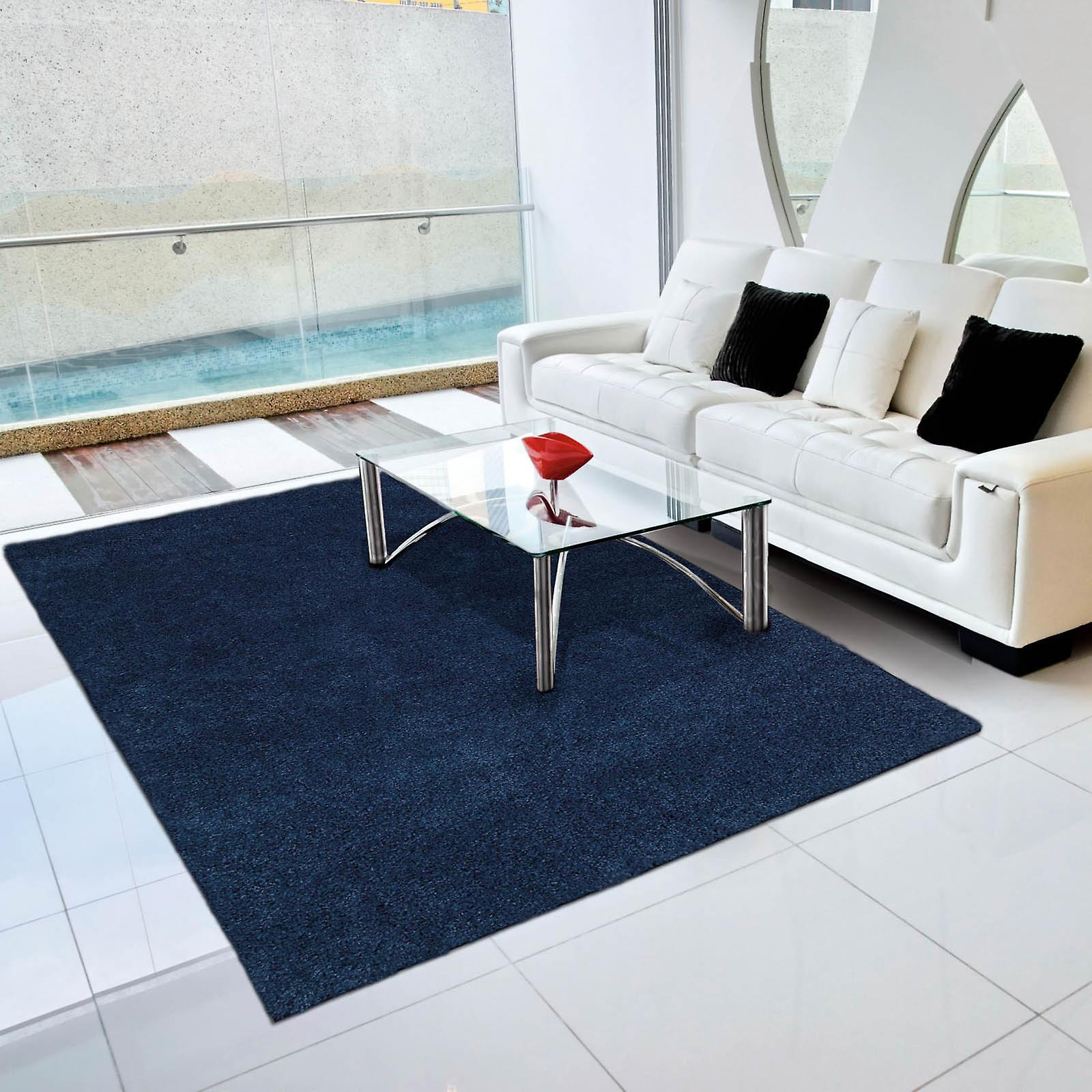 Nourison Amore Amor1 Shaggy Rugs In Ink Blue