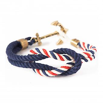 Kiel James Patrick American coast anchor marine-red-white bracelet
