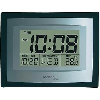 Quartz Wall clock Techno Line WS 8004 220 mm x 170 mm x 35 mm Silver, Black