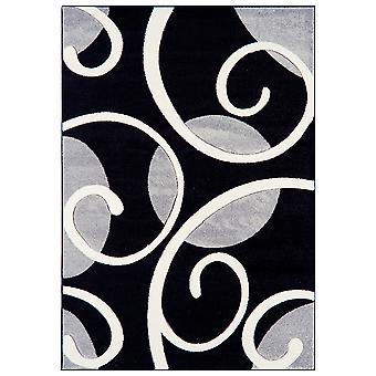 Valera Black & Grey Modern Carved Rug