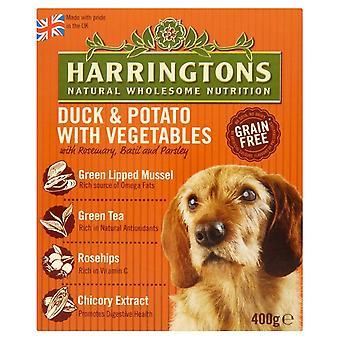 Harringtons våd Duck & kartoffel 400g (Pack af 8)