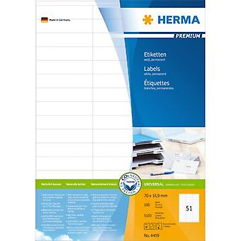 Labels white 70x16 .9 Herma Premium A4 5100 pcs.