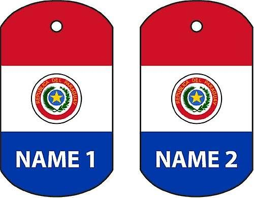 Personalised Paraguay Dog Tag Car Air Freshener