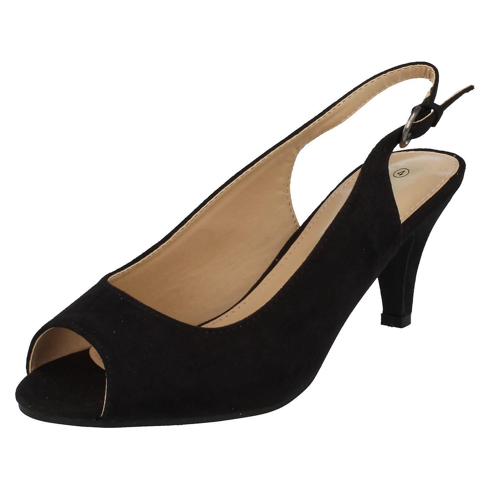 Le signore Anne Michelle Peep Toe Sling Back Shoes F10593
