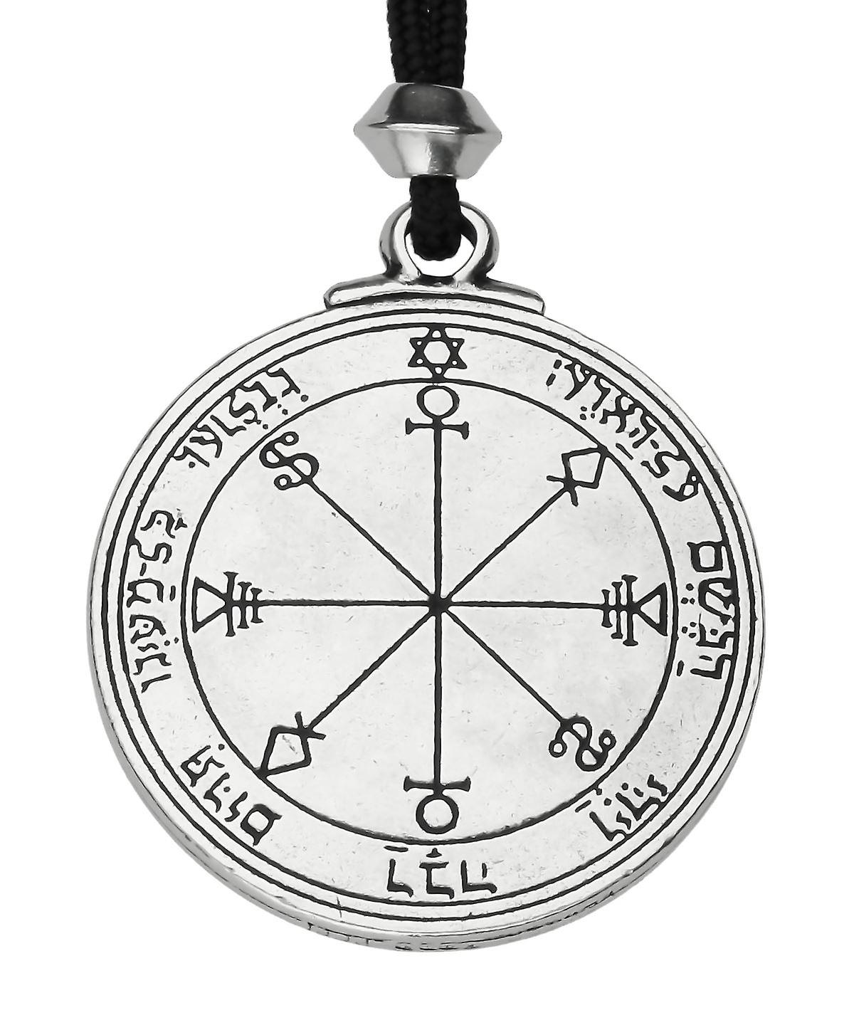 Handmade Talisman of Moon 5th and 6th Pentacle Pewter Power Pendant ~ Protection
